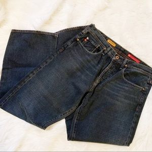 AG The Icon Relaxed Straight Dark Jeans W 34 L 32